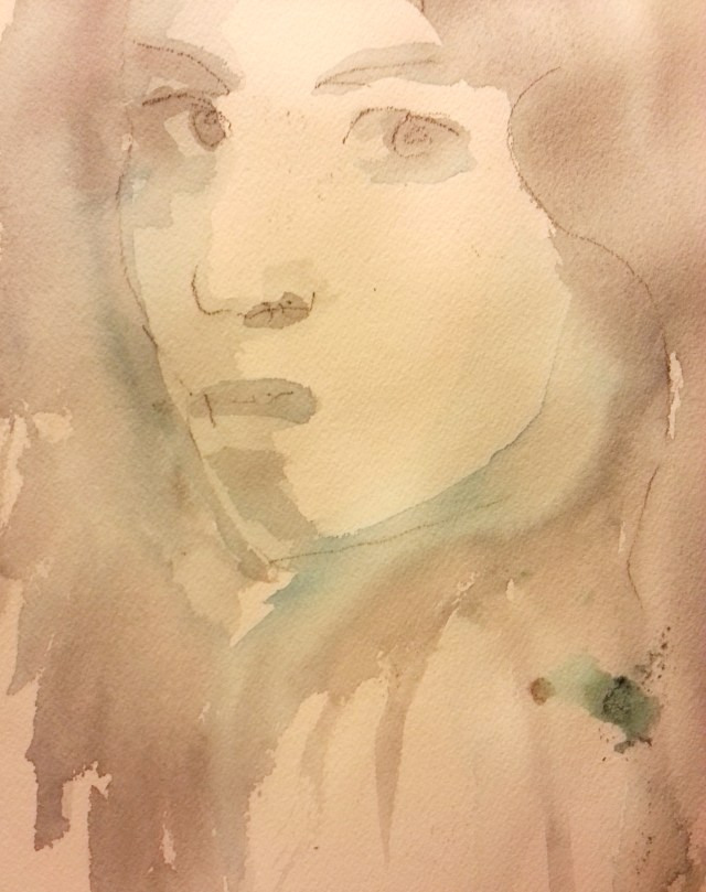 watercolor on paper-portrait-empty