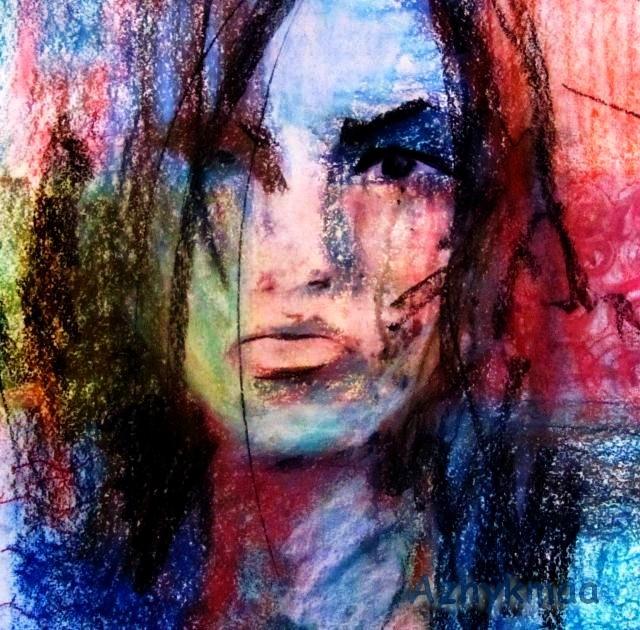 soft pastel - selfportrait