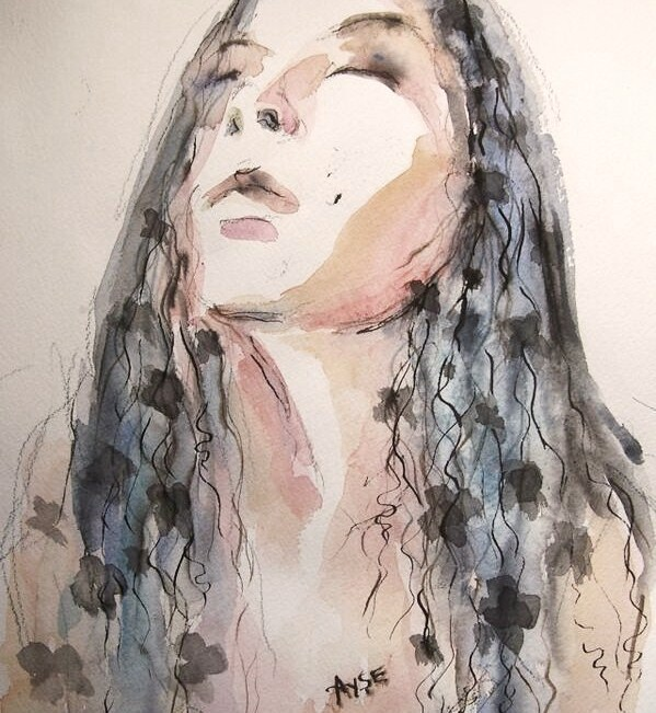 watercolor - selfportrait